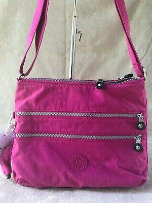 Kipling Alvar Very Berry Pink Crossbody Shoulder Bag