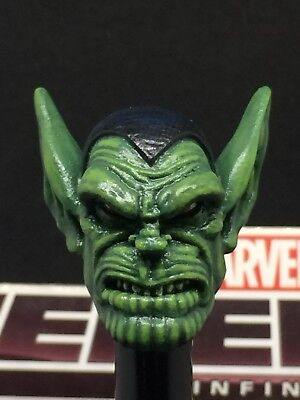 MARVEL LEGENDS CUSTOM PAINTED/FITTED SUPER SKRULL 1:12 HEAD FOR 6IN FIGURE