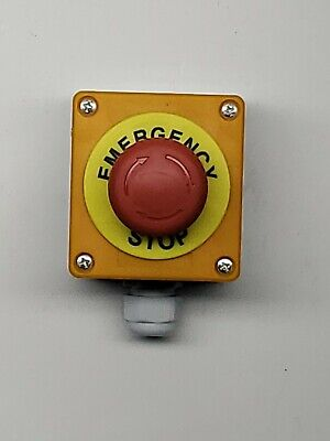 Red Mushroom Emergency Stop Shut Off Push Button Switch No Nc Cnc Usa Retailer