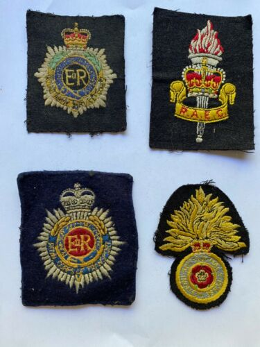 Lot of British Army Regimental Blazer or Jacket Patches