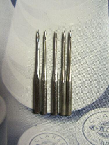 24x1 Leather Singer Model 24 Chainstitch Sewing Machine Needles, Sz 16 Qty 5
