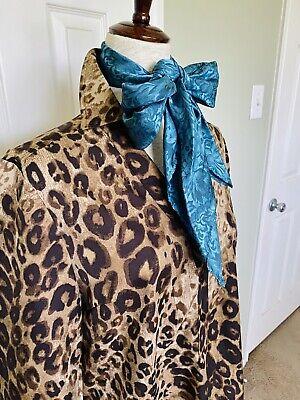 ANN TAYLOR WOMENS SHIRT SIZE MEDIUM ANIMAL PRINT LEOPARD 3/4 SLEEVE TUNIC SOFT
