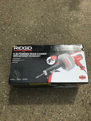 Ridgid Hand Held K 45af Powered Drain Cleaner With Autofeed