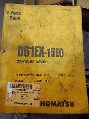 Komatsu D65ex-15e0 Crawler Dozer Parts Book
