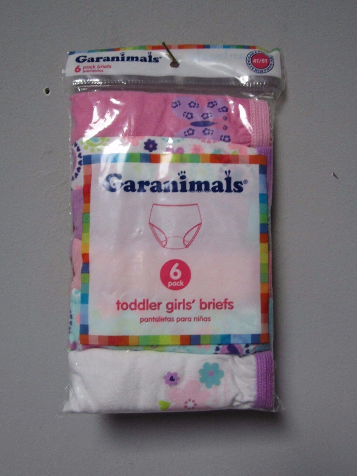 Garanimals Toddler Girls 6-Pack Flower/Butterfly Briefs Unde