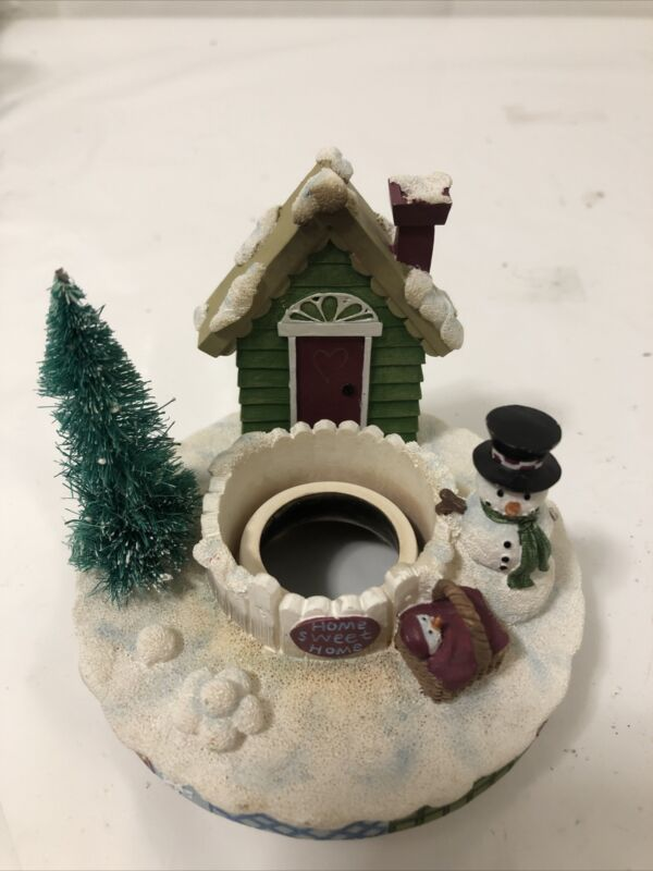 Candle Holder Capper Soot Stopper-Christmas Snowman Home Sweet Home -Home Decor
