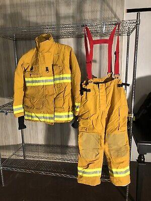 Fire Fighter Turnout Bunker Gear Pants Jacket Fireman Bristol New