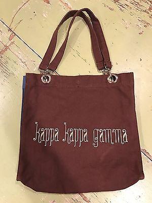 Super Cute Kappa Kappa Gamma Sorority Brown Tote Bag