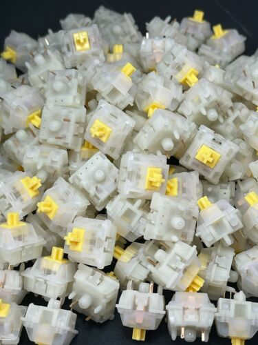 Gateron Milky Yellow Mechanical Keyboard Linear Switches (100 ct)