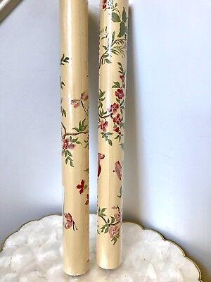 "Thibault Wallpaper 2 Bolts Yellow Beige Red Floral Butterfly Bird Pattern 20.5"""