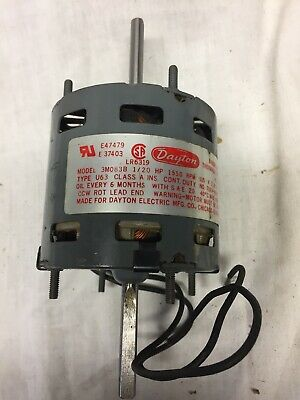 Dayton Model 3m083b Shaded Pole Motor Double Shaft New No Box
