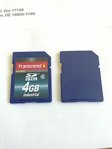 Transcend 4GB 4 GB SDHC Industrial Class 6 Flash Memory Card TS4GSDHC6I BULK
