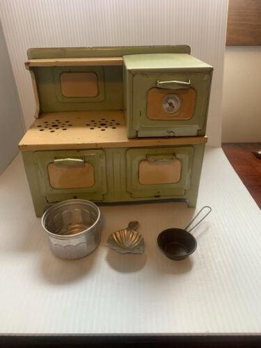 Girard Model Works Toy Electric Range Stove Oven Metal Vintage Good Condition