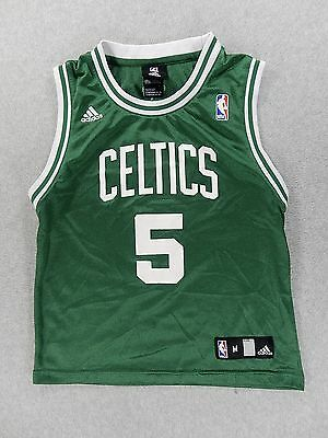 373fe12e3ac Boston Celtics Adidas Screened Replica Basketball Jersey (#5 Garnett) Youth  Med