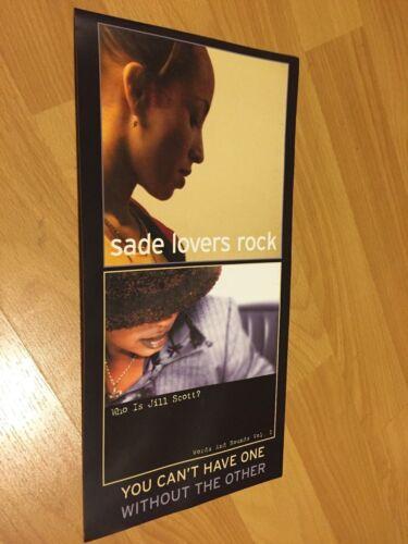 Rare SADE Adu Lovers Rock Promo STICKER Jill Scott Okayplayer poster decal R&B