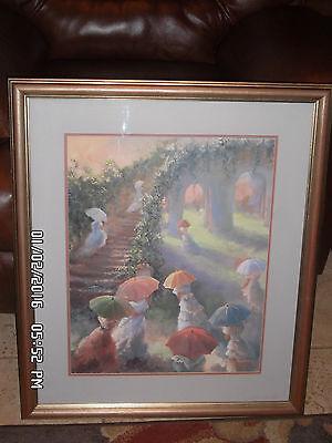 Rare Susan Mink Colclough Catch The Sun Signed Ltd Ed 177of 1950 Framed Print - $89.99