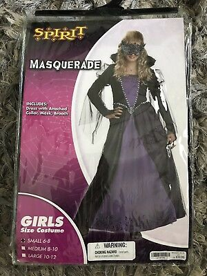 Mardi Gras Girl Costume (GIRLS Mardi Gras Dress & Mask Renaissance HALLOWEEN COSTUME DRESS SZ S 4-6)