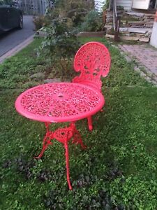 Patio table & chair
