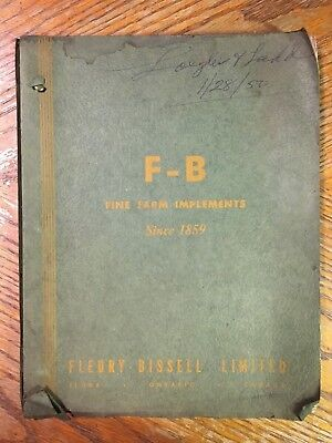 Fleury-bissell F-b Farm Implements Disc Harrow Catalog Of Repair Parts