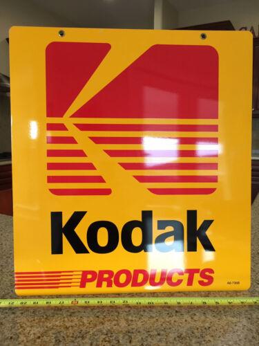 KODAK METAL DOUBLE SIDED ADVERTISING SIGN , VINTAGE, RARE,NEAR MINT 20 X 22