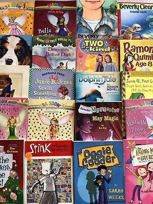 Lot of 15 chapter books RANDOM Children's Youth Early Readers Homeschool *Girls*