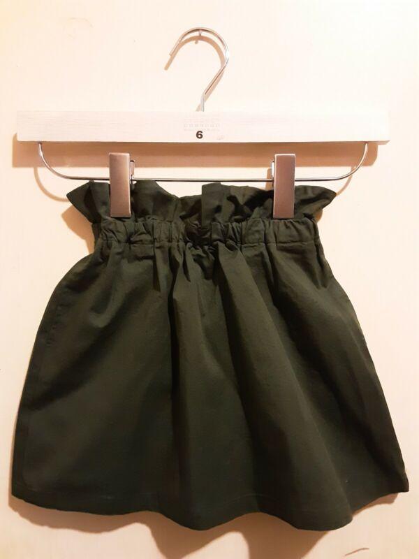 Uniqlo Girls  Gathered  Skirt Dark  Green 11-12 Nwt