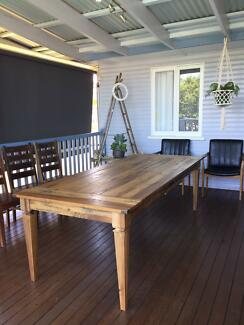 Large timber dining table 2.4 x 1m
