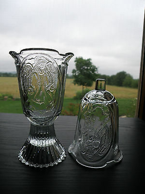 2 HOMCO Home Interiors Angel Design Pressed Panel Votive Cup Candle Holders