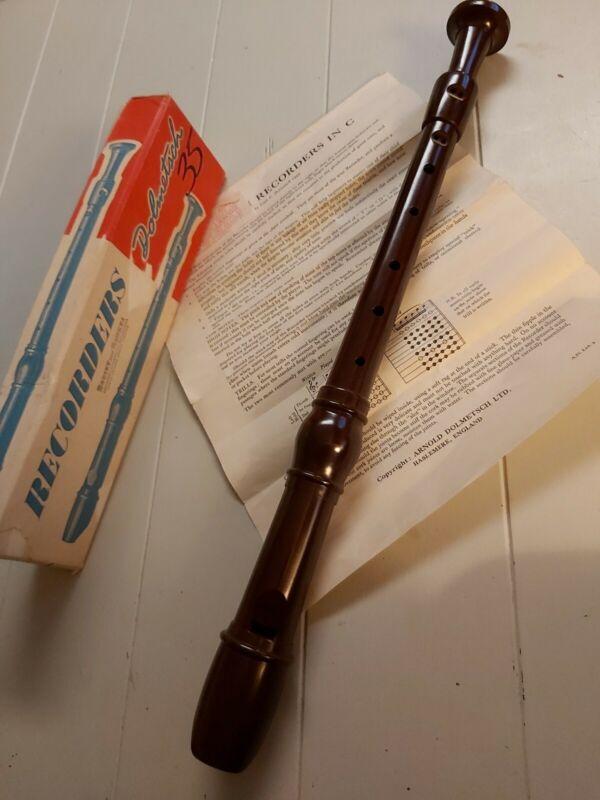 Vintage Dolmetsch TREBLE Recorder Made in England
