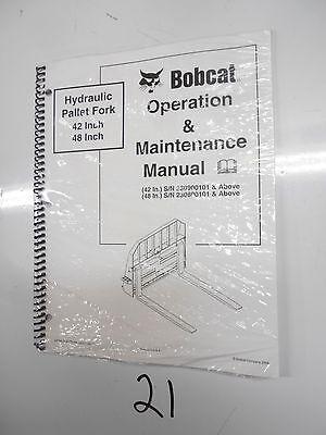 Bobcat Hydraulic Pallet Fork 42 Sn 230900101 48 230800101 Service Manual 106
