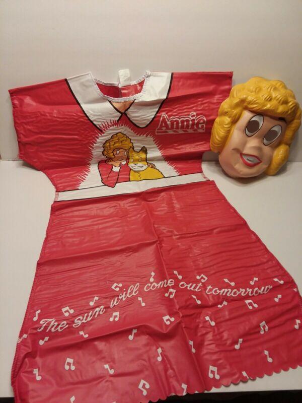 LITTLE ORPHAN ANNIE Ben Cooper Vinyl Costume 1982 Medium 8-10