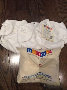 Bummis cloth diapers- prefolds and Brand new covers