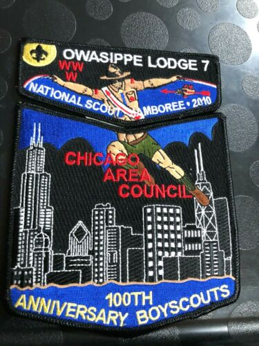 OA OWASIPPE LODGE 7 2010 NATIONAL JAMBOREE 100th ANN OF SCOUTING TWO PIECE SET