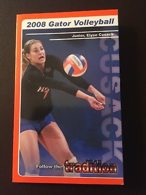 Florida Gators 2008 NCAA Volleyball pocket schedule