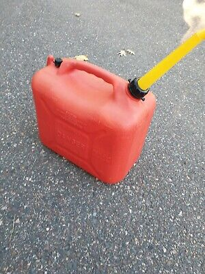 Wedco W-500-2 Pre Ban Vented 5.8 Gallon Heavy Plastic Gas Can Made In Canada