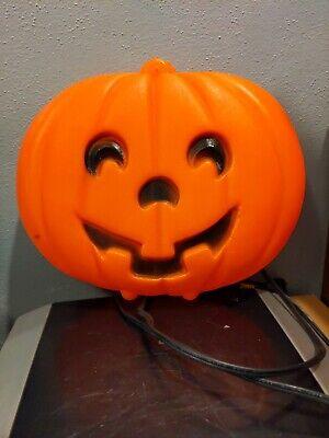 Vintage Halloween Light Up Blow Mold Pumpkin