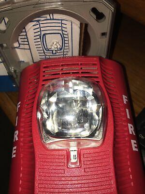 Spectr Alert Advance Sensor Spsr Fire Alarm Speakerstrobe Wall Red New