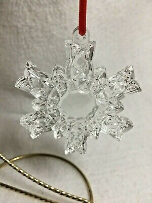 Waterford Marquis Crystal Snowflake Christmas Tree Ornament