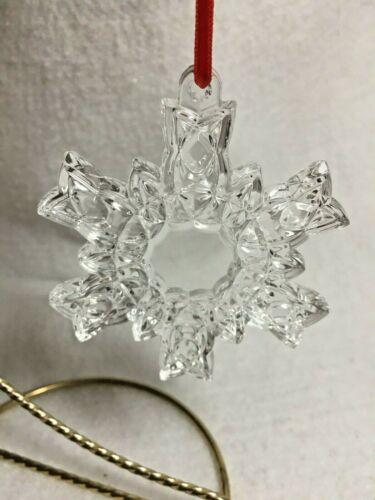 Waterford Marquis Crystal Snowflake Christmas Tree Ornament