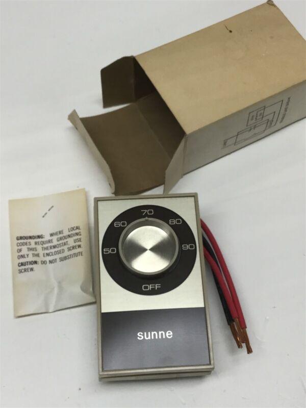 Sunne Controls TB112-001 Double Line Break Thermostat, 50-90F Temperature Switch