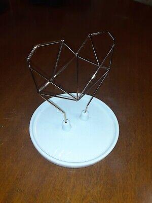 IMM Coxet Wire Heart Ceramic Jewelry Holder - New In Box