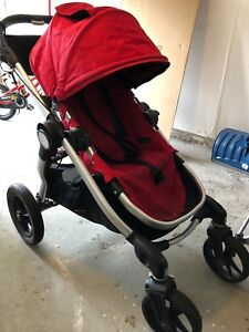 Baby Jogger City Select Stroller - Ruby - with accessories