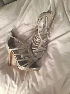 Silver prom shoes/ high heels
