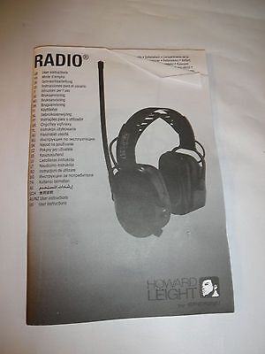 Howard Leight By Sperian Radio 1010375 Electronic Amfm Radio Earmuff-open