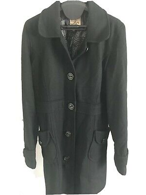 Tulle Anthropologie Black Wool Coat Long Size L Excellent condition. Lined Long Black Wool Coat