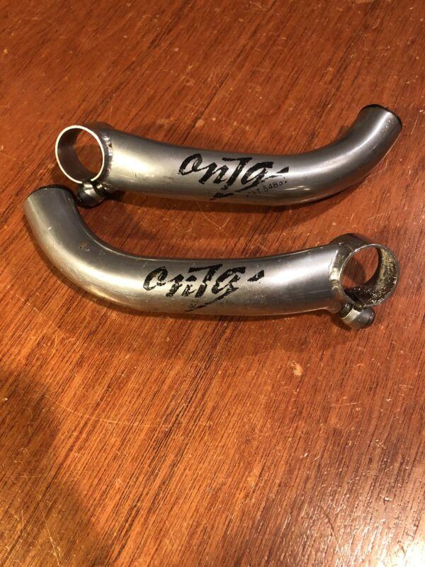 Vintage Onza Aluminum Bar Ends Silver MTB Mountain Bike Barends