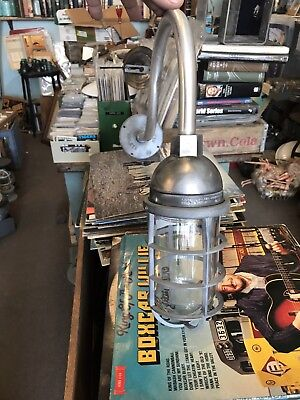 Vintage Industrial Light on Gooseneck Arm -Barn Light Killark