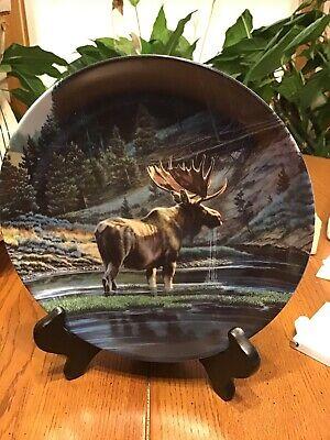 """The Moose "" Dominion China Ltd "" Bradford Exchange Plate"