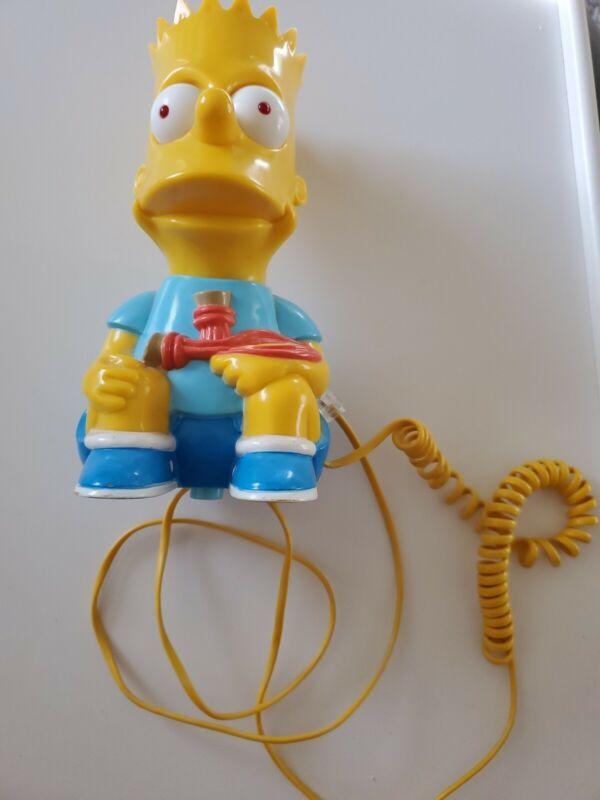 Vintage 1990 Bart-1 Simpson Phone Telephone Corded Landline