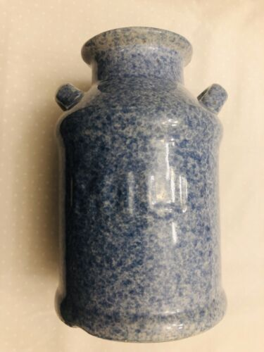 Vintage Milk Ceramic Jar Milk Shaped And Incised MILK In Front 6 1/2 x 4 1/4  - $8.00